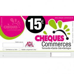 chèque commerce 15 € - ADL