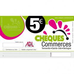 chèque commerce 5 € - ADL